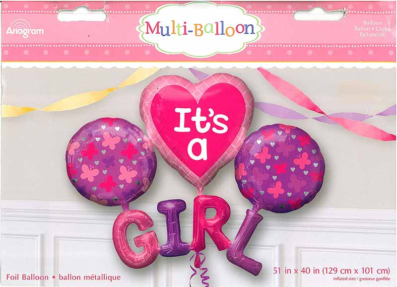 "Multiballon ""It's a girl"""