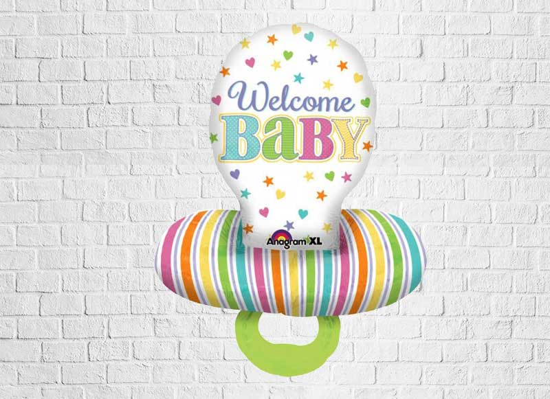 "Multiballon ""Schmuller - Welcome Baby"""