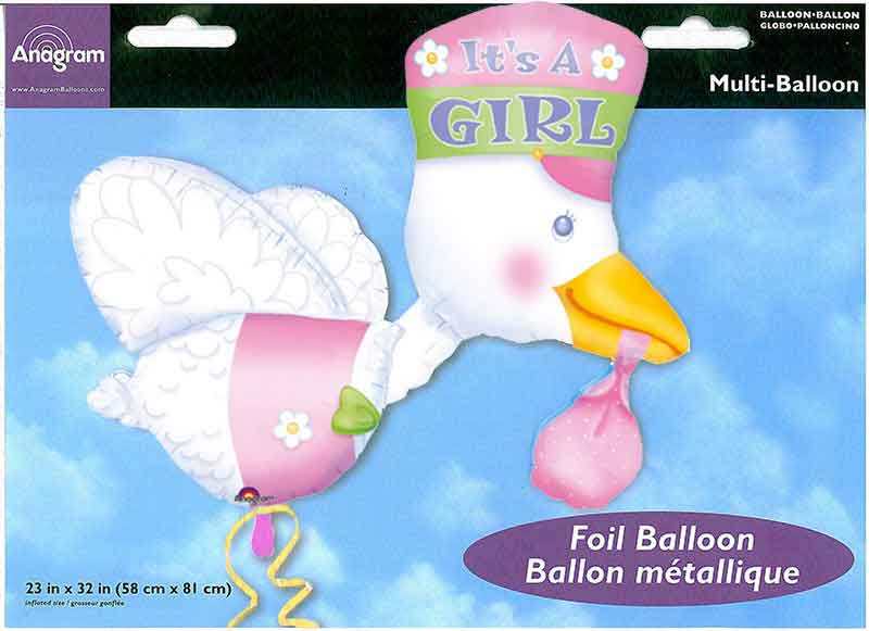 "Multiballon ""Storch - It's a girl"""