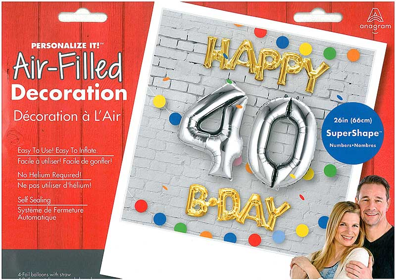 "Ballon-Bundle ""Happy 40 Birthday"""