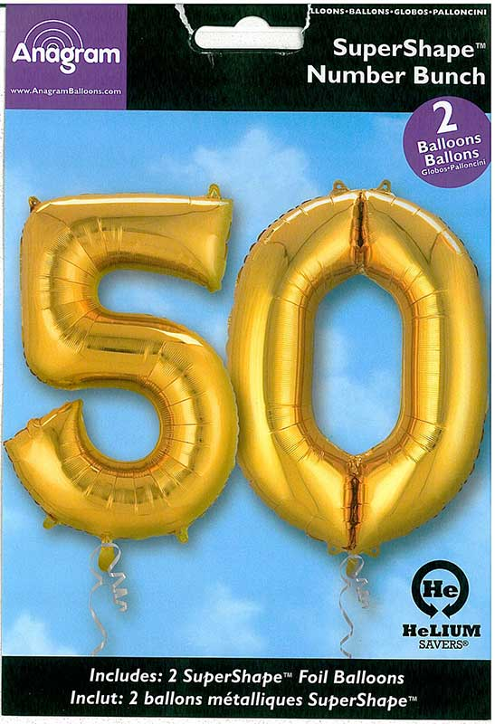 "Zahlenballons - Bundle ""50"" gold"
