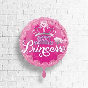 "Pinker Geburtstags-Ballon mit dem Aufdruck ""Happy Birthday Princess"""